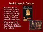 back home in france