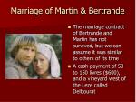 marriage of martin bertrande