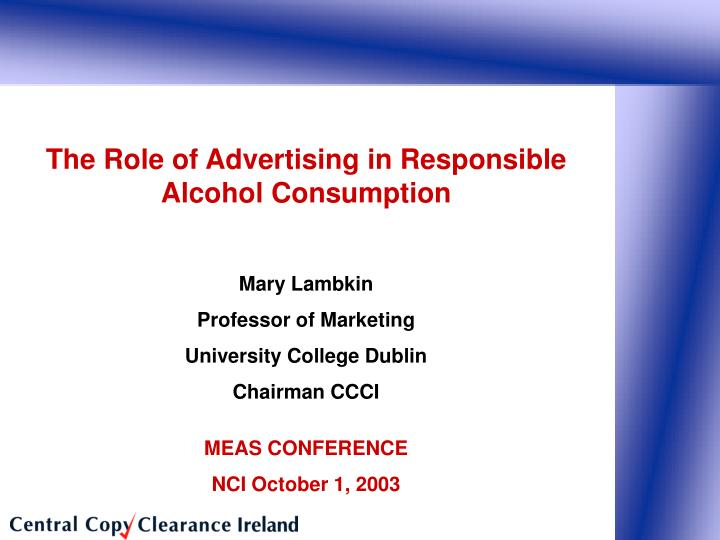 The Role of Advertising in Responsible Alcohol Consumption