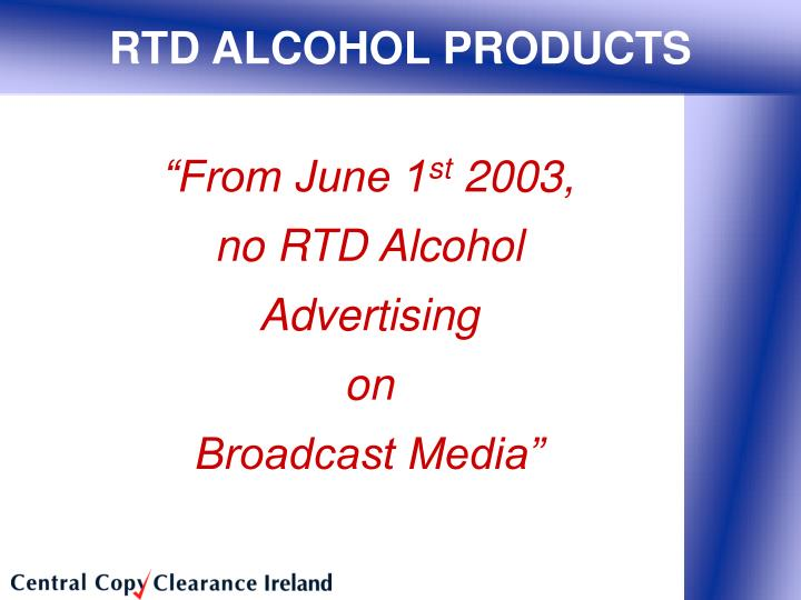 RTD ALCOHOL PRODUCTS