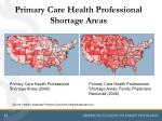 primary care health professional shortage areas