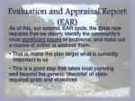 evaluation and appraisal report ear3