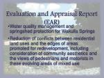 evaluation and appraisal report ear7