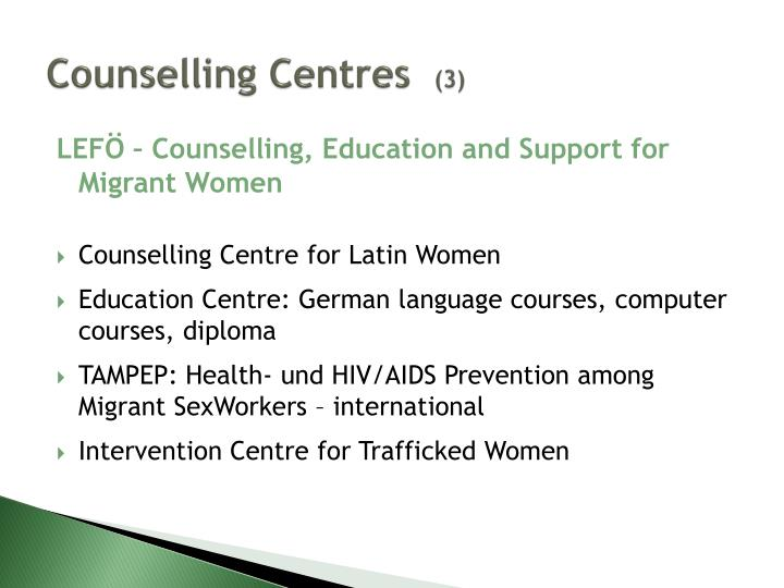 Counselling Centres