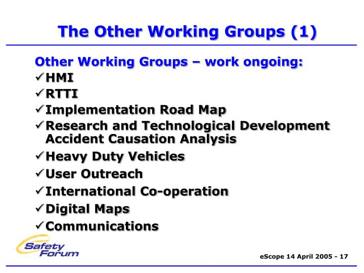 working groups 1 A working group or working party is a group of experts working together to achieve specified goals the groups are domain-specific and focus on discussion or activity around a specific subject area the groups are domain-specific and focus on discussion or activity around a specific subject area.
