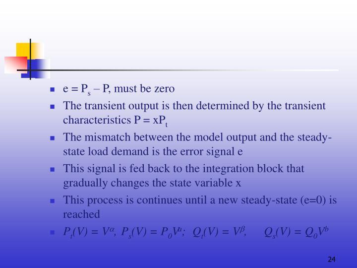 e = P