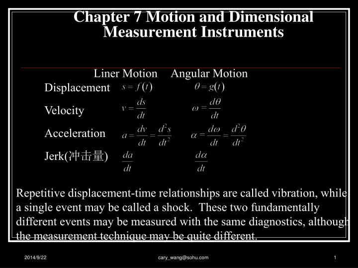 chapter 7 motion and dimensional measurement instruments n.