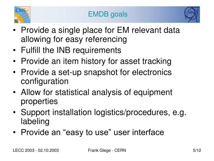 EMDB goals