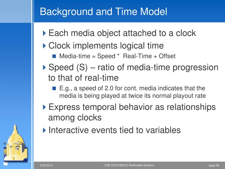 Background and Time Model