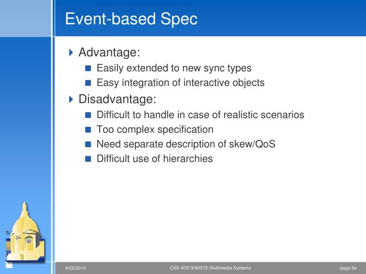 Event-based Spec