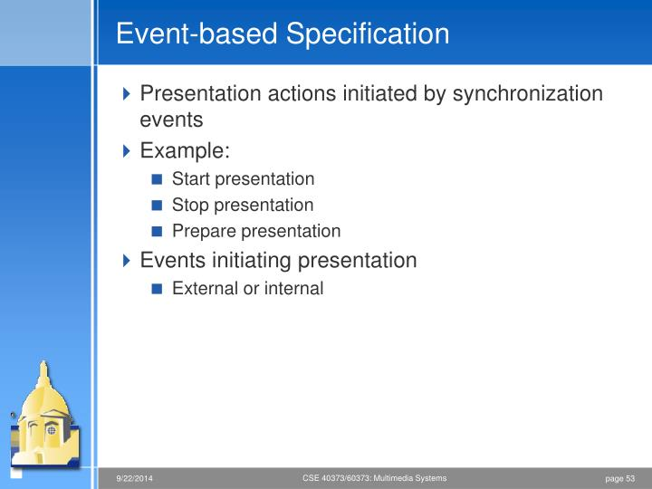 Event-based Specification