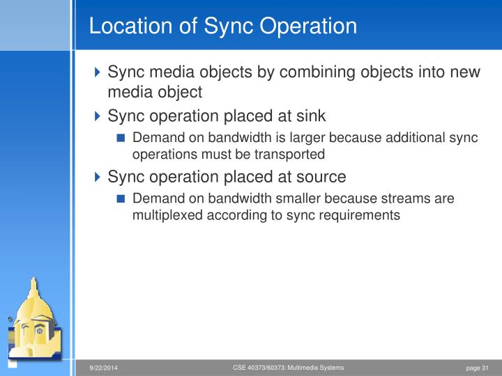 Location of Sync Operation
