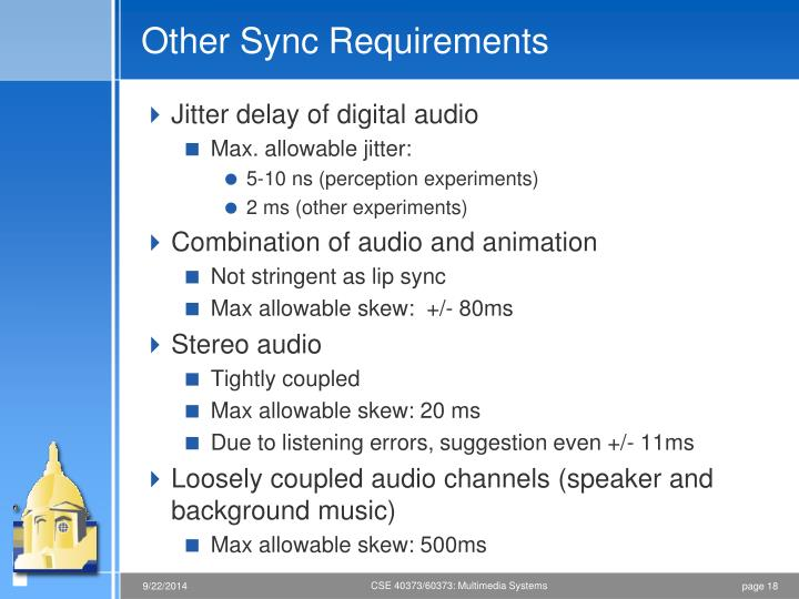 Other Sync Requirements
