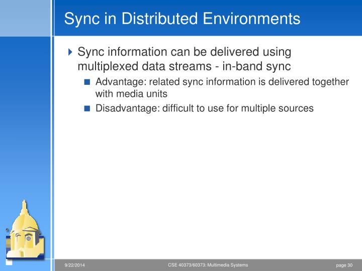 Sync in Distributed Environments