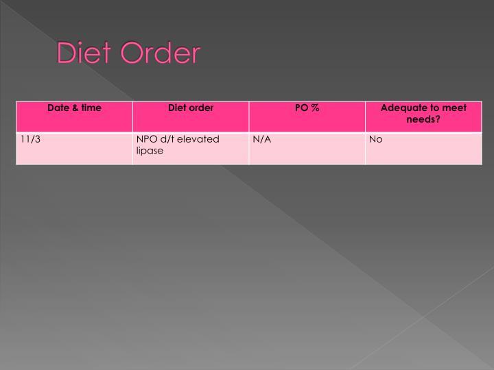 Diet Order