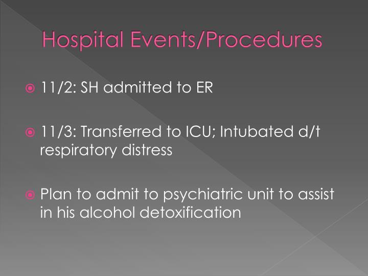 Hospital Events/Procedures