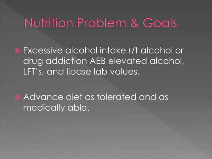 Nutrition Problem & Goals