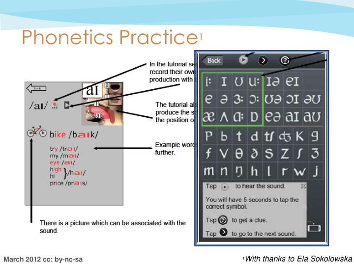Phonetics Practice