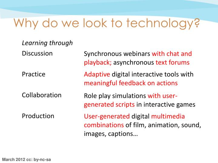 Why do we look to technology?