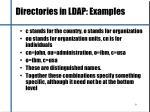 directories in ldap examples