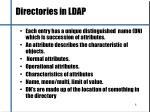 directories in ldap