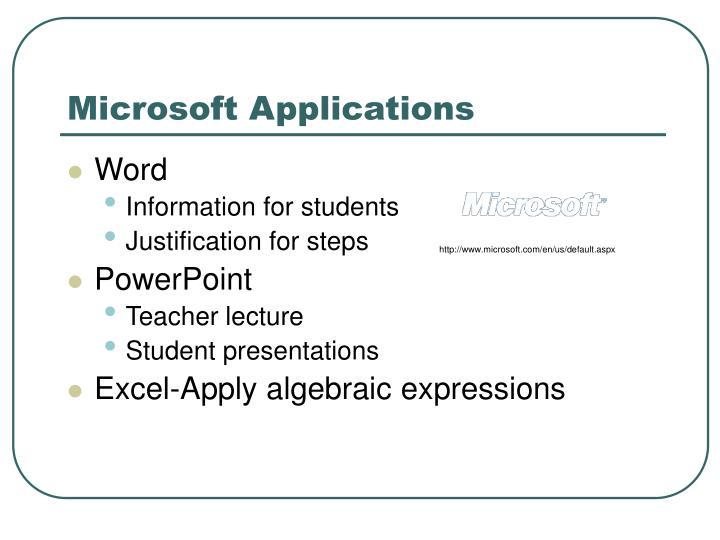 Microsoft Applications