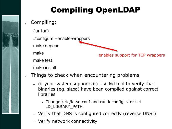 Compiling OpenLDAP