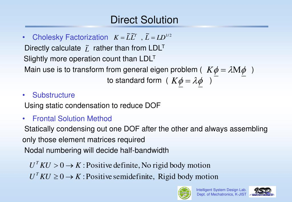 PPT - Chap 8  FE Analysis- Solution PowerPoint Presentation