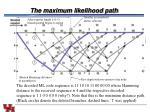 the maximum likelihood path