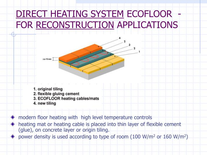 PPT - Direct heating system ECOFLOOR Installation guide PowerPoint ...