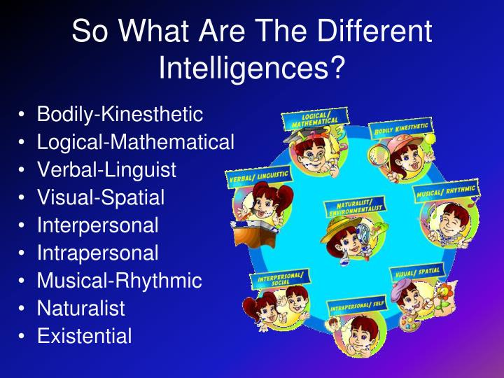 So What Are The Different Intelligences?