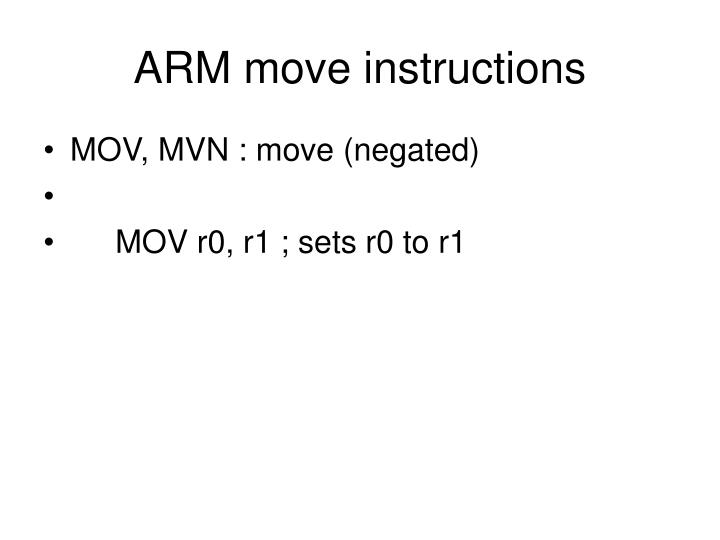 ARM move instructions