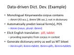 data driven dict dev example