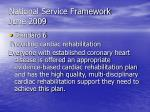 national service framework june 2009