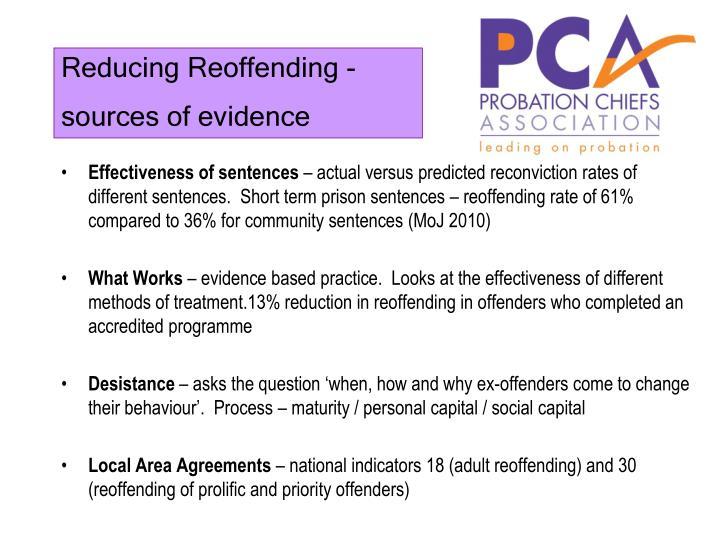 Reducing Reoffending -
