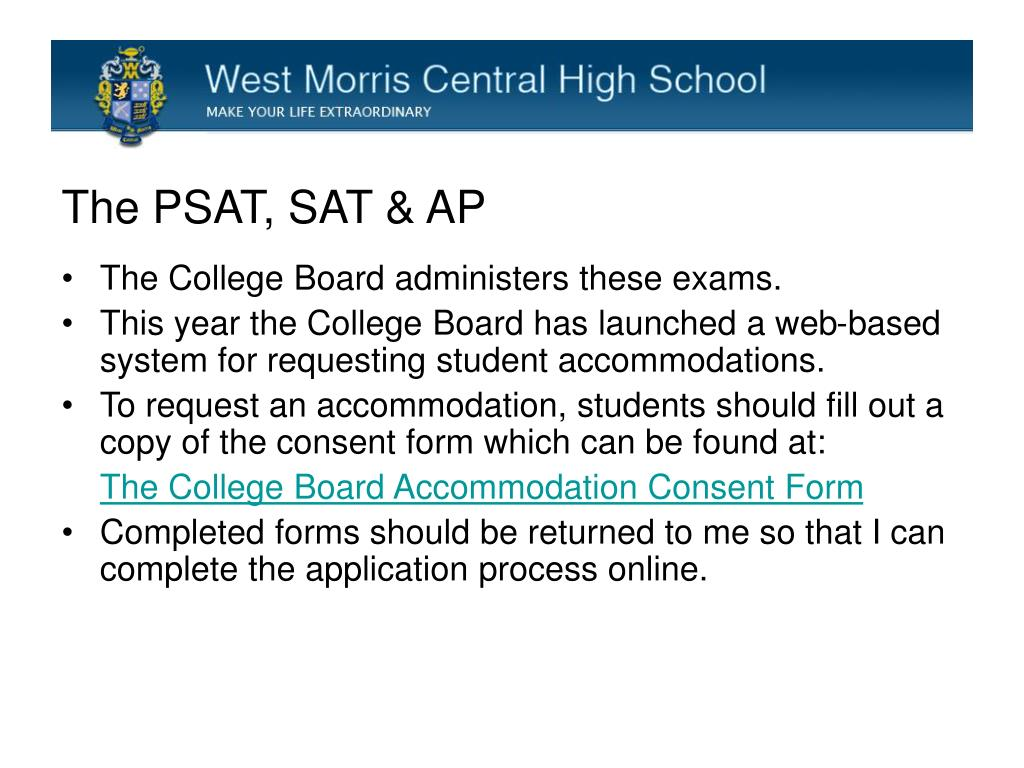 PPT - Requesting Accommodations for the PSAT, SAT and ACT