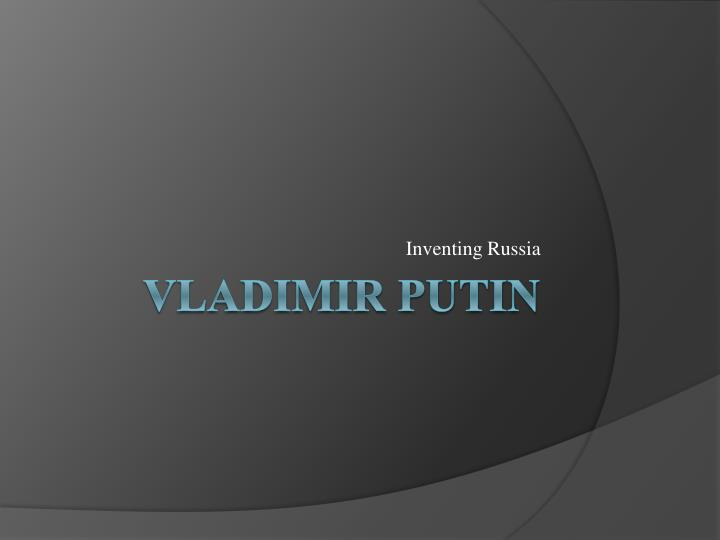 inventing russia n.