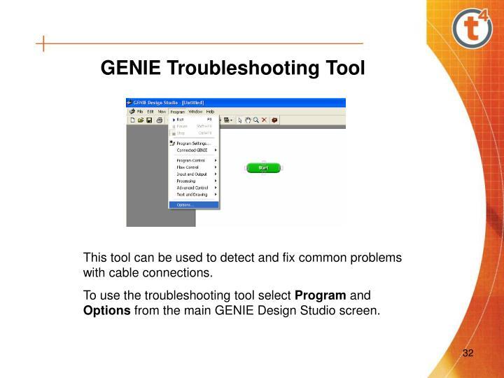 GENIE Troubleshooting Tool