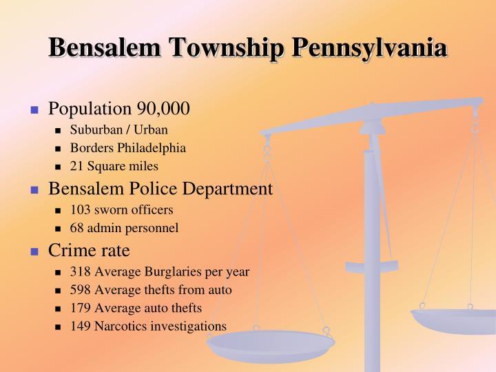 Bensalem Township Pennsylvania