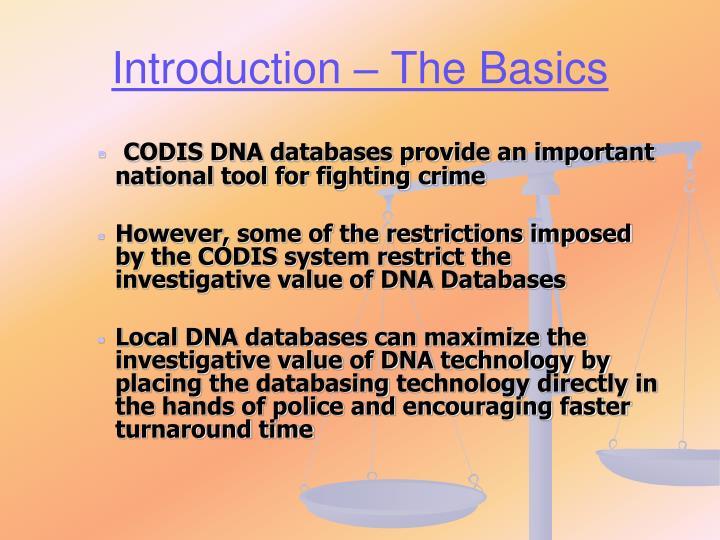 Introduction – The Basics