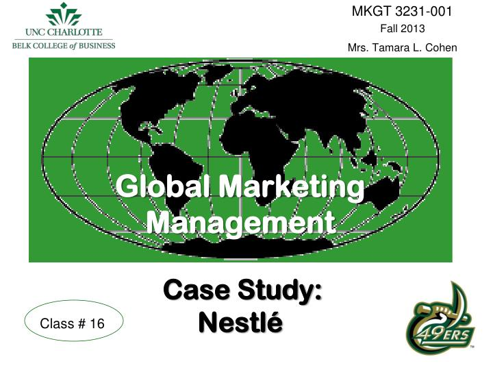 marketing management mcdonalds case study This case describes several non-market issues that could significantly impact the   study questions guide students to evaluate and prioritize the issues in.