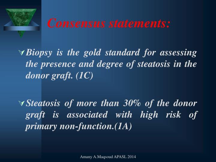 Consensus statements: