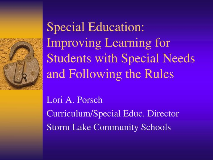 special education improving learning for students with special needs and following the rules n.
