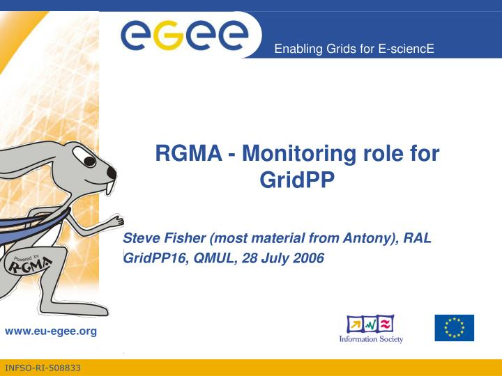 rgma monitoring role for gridpp n.
