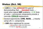status oct 98