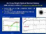 an x ray bright optical normal galaxy xmm j021822 3 050615 7 severgnini et al 2003 a a 406 483