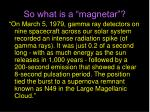 so what is a magnetar