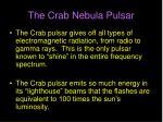 the crab nebula pulsar