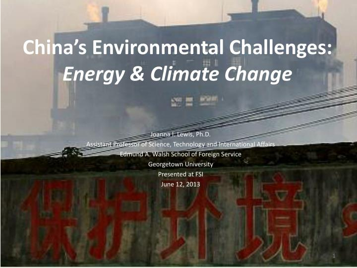 china s environmental challenges energy climate change n.