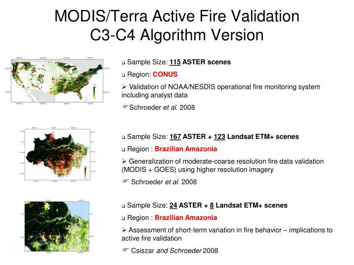 MODIS/Terra Active Fire Validation